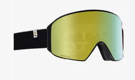 ANON M4 CYLINDRICAL JT FRAME WITH SONAR BRONZE BY ZEISS+SONAR BLUE LENS SNOW GOGGLES 2019 MFI FACE MASK INCLUDED
