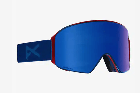 ANON M4 CYLINDRICAL BLUE FRAME WITH SONAR INFRARED BLUE BY ZEISS+SONAR INFRARED LENS SNOW GOGGLES 2019 MFI FACE MASK INCLUDED