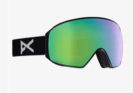 ANON M4 TORIC BLACK FRAME WITH SONAR GREEN BY ZEISS+SONAR BLUE LENS SNOW GOGGLES 2019