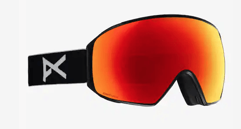 ANON M4 TORIC BLACK FRAME WITH SONAR RED BY ZEISS+SONAR INFRARED LENS SNOW GOGGLES 2019 MFI FACE MASK INCLUDED