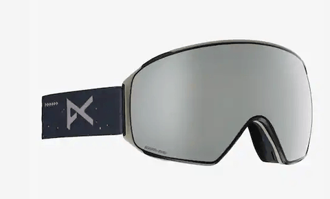 ANON M4 TORIC RUSH FRAME WITH SONAR SILVER BY ZEISS+SONAR INFRARED BLUE LENS SNOW GOGGLES 2019 MFI FACE MASK INCLUDED
