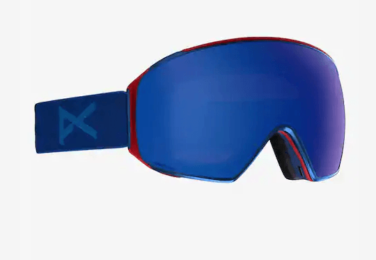 ANON M4 TORIC BLUE FRAME WITH SONAR INFRARED BLUE BY ZEISS+SONAR INFRARED LENS SNOW GOGGLES 2019 MFI FACE MASK INCLUDED