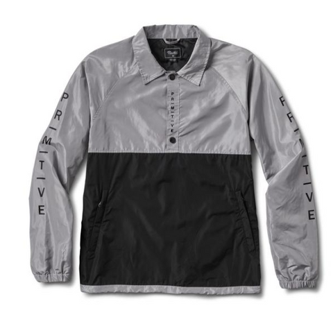 PRIMITIVE ANORAK COACHES JACKET BLK/SLVR