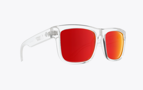 SPY DISCORD CLEAR FRAME WITH HAPPY GRAY GREEN/RED SPECTRA LENS SUNGLASSES
