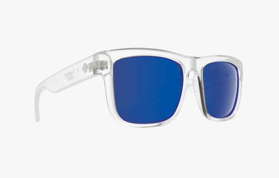 SPY DISCORD CLEAR FRAME WITH HAPPY BRONZE/DARK BLUE SPECTRA LENS SUNGLASSES