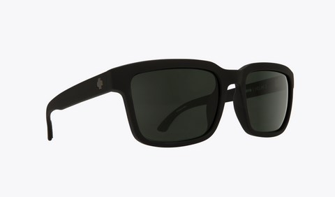 SPY HELM 2 MATTE BLACK FRAME WITH HAPPY GREYGREEN POLARIZED LENS SUNGLASSES