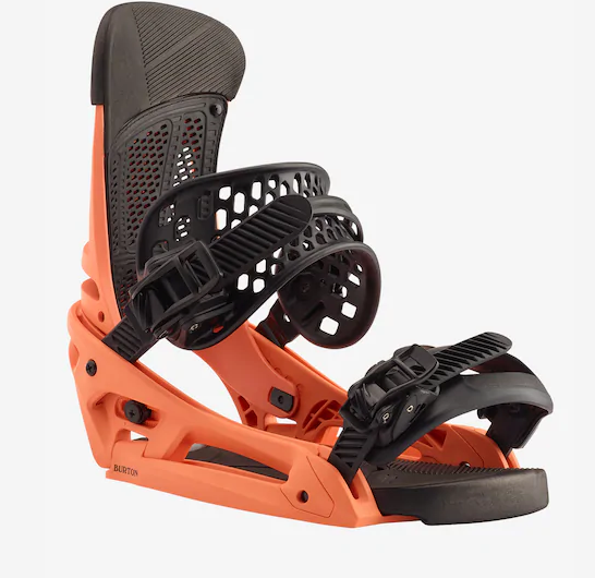 BURTON MENS MALAVITA EST SNOWBOARD BINDINGS SPICY SALMON-2020