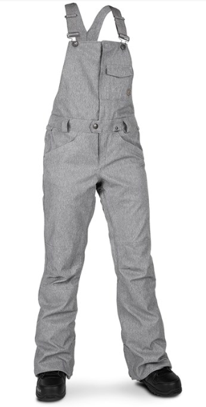 VOLCOM WMNS SWIFT BIB OVERALL SNOW PANT 2020 AVAILABLE IN BLACK, SCARLET AND HEATHER GREY