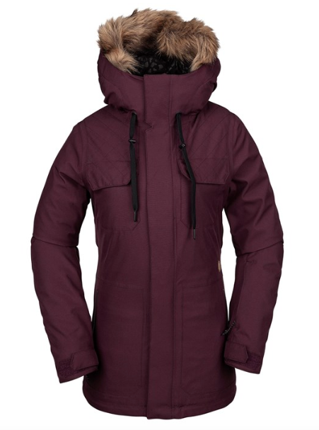 VOLCOM WMNS SHADOW INSULATED SNOW JACKET 2020 AVAILABLE IN MERLOT AND HEATHER GREY