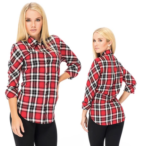 RDS Women's Ruth Button Up L/S Shirt