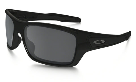 OAKLEY TURBINE POLISHED BLACK FRAME WITH BLACK IRIDIUM LENS SUNGLASSES