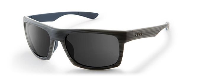 ZEAL DRIFTER GREY WOODGRAIN POLARIZED SUNGLASSES