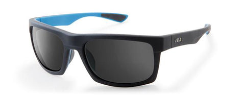 ZEAL DRIFTER MATTE BLACK AZURE POLARIZED SUNGLASSES