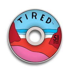 TIRED BEACH SKATEBOARD WHEELS 51