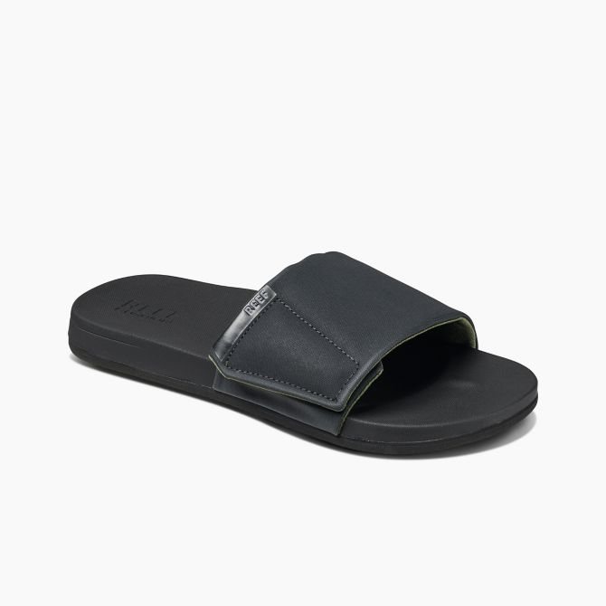 REEF CUSHION BOUNCE SLIDE SANDAL BLK