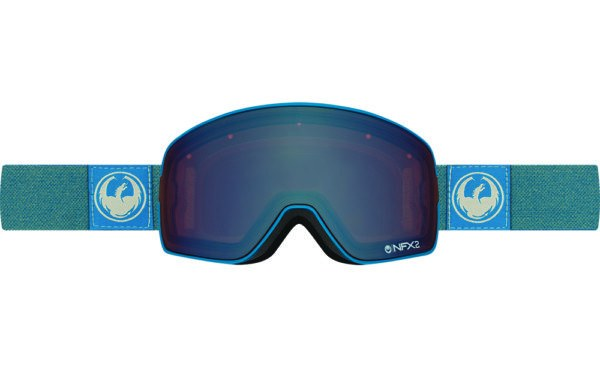 DRAGON NFX2 HONE BLUE-OPTIMIZED FLASH BLUE+OPTIMIZED FLASH GREEN LENSES SNOW GOGGLES 2017
