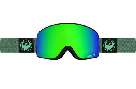 DRAGON NFX2 HONE EMERALD-OPTIMIZED FLASH GREEN+OPTIMIZED FLASH BLUE LENSES SNOW GOGGLES 2017