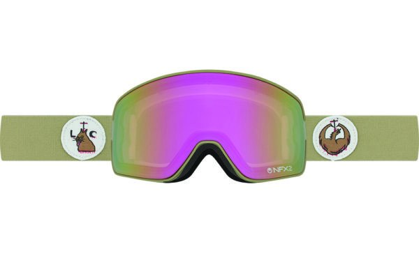DRAGON NFX2 LICK THE CAT COLLAB-PINK ION+DRK SMK LENSES SNOW GOGGLES 2017
