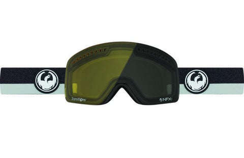 DRAGON NFXs FLUX GREY-INJECTED TRANSITION YELLOW LENS SNOW GOGGLES 2017