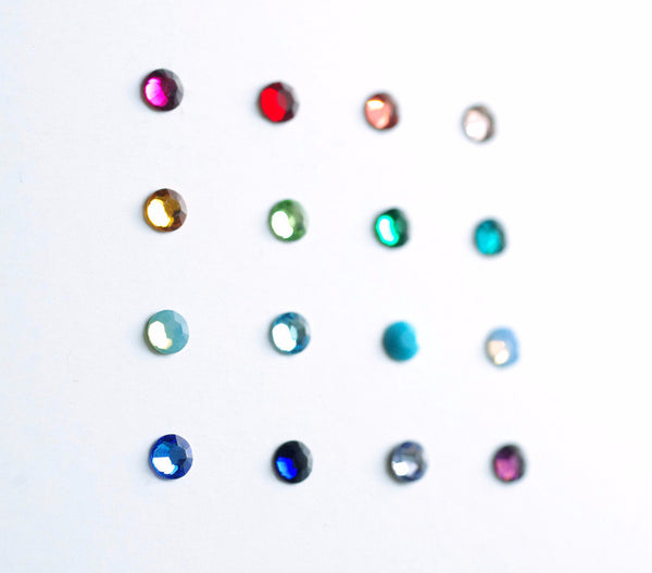4mm bubble ring . colours