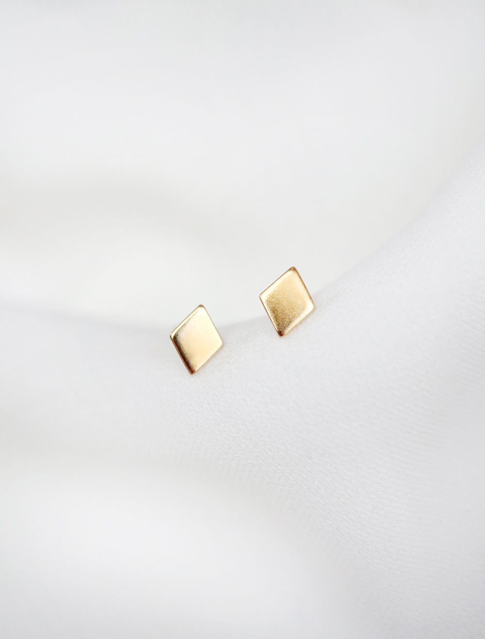gold filled diamond stud earrings
