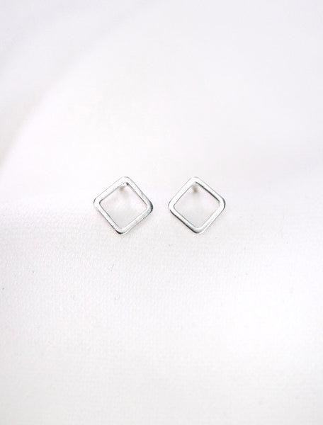 open square (vertical) earrings