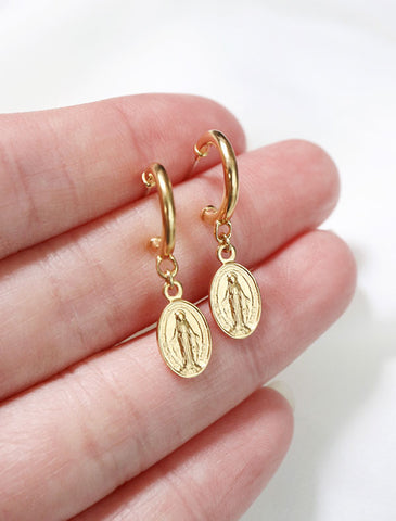 sweet pea hoop earrings