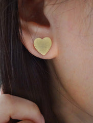 linen hearts earrings