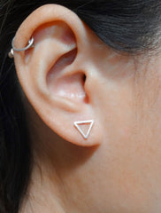 open triangle studs modelled