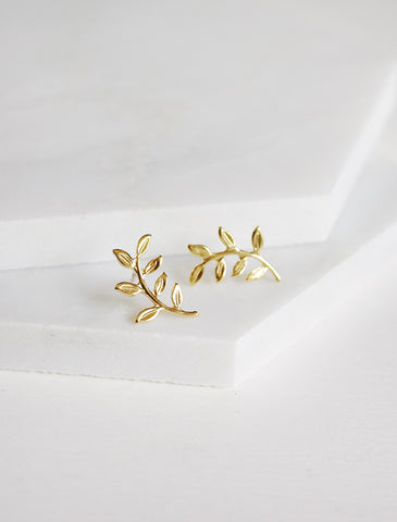 tiny apple leaf midi ring