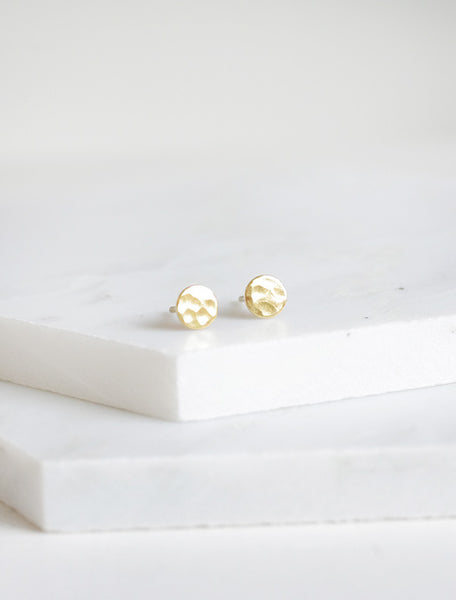 tiny pebble earrings