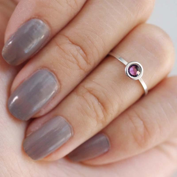 february birthstone midi ring