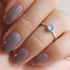 march birthstone midi ring