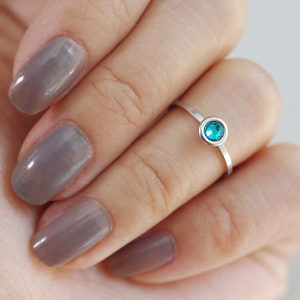 december birthstone midi ring