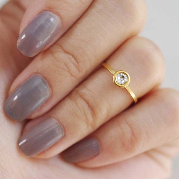 april birthstone midi ring