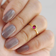 january birthstone midi ring