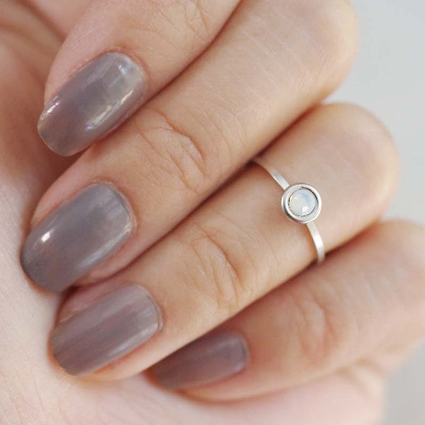 october birthstone midi ring
