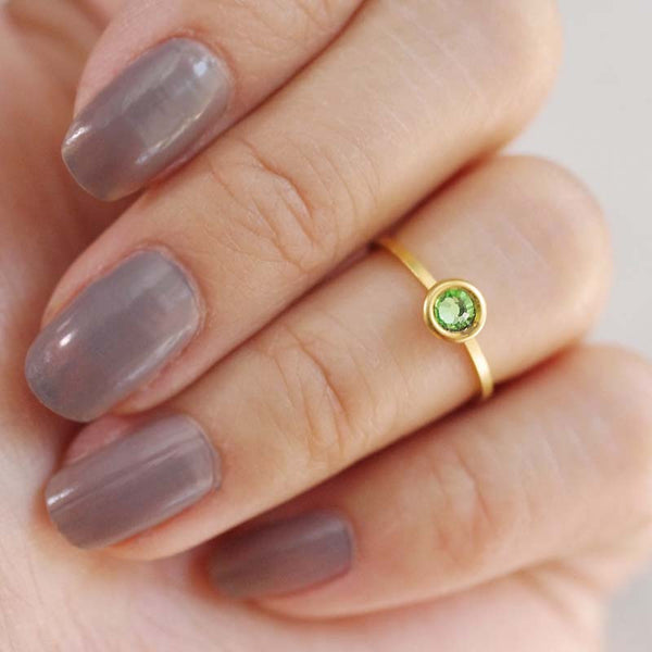 august birthstone midi ring