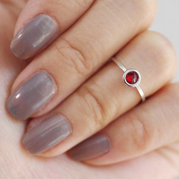 july birthstone midi ring