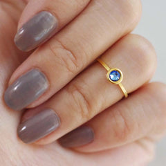 september birthstone midi ring