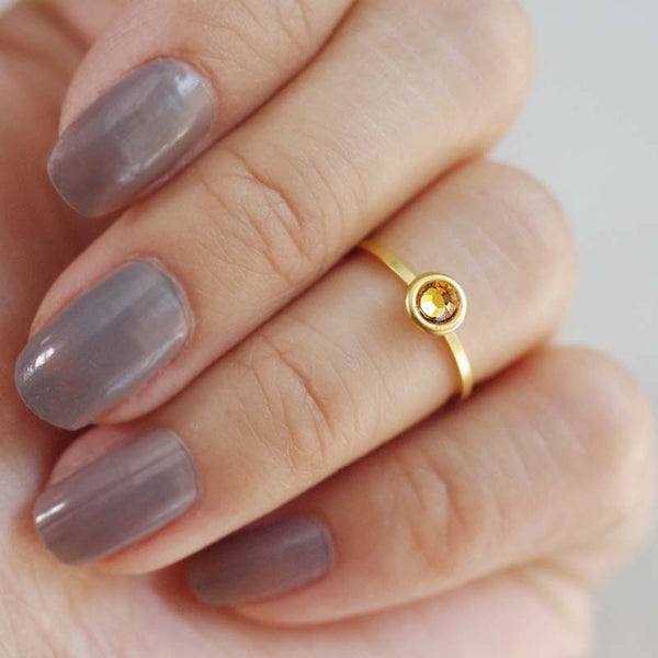 november birthstone midi ring