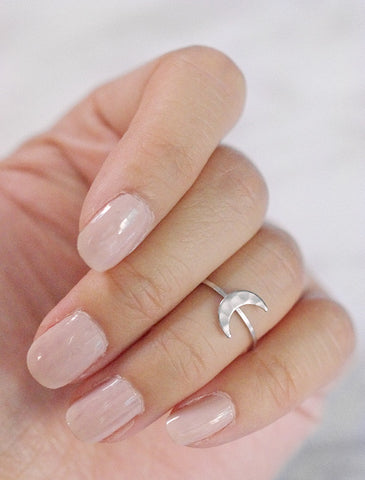 crescent moon midi ring