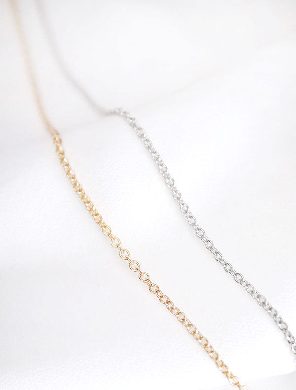gold and silver cable chain necklaces