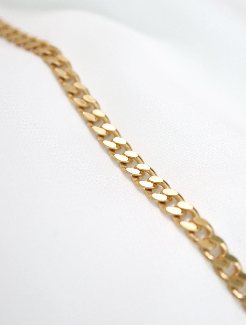 14k gold filled curb chain necklace