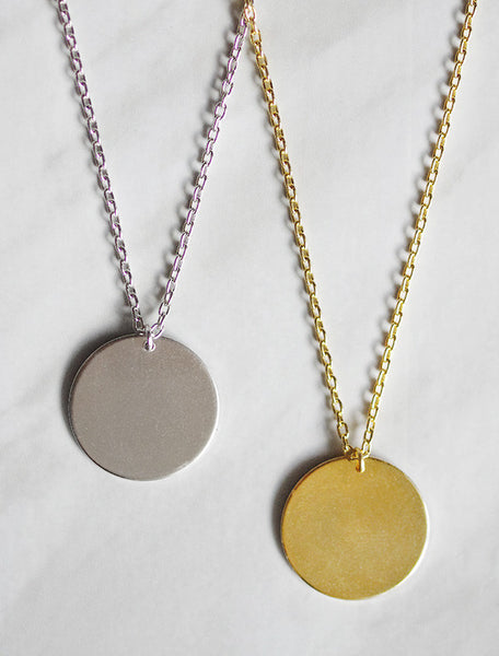 20mm circle tag necklace