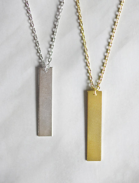 classic bar necklace . vertical