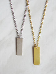 classic bar necklace . vertical . short