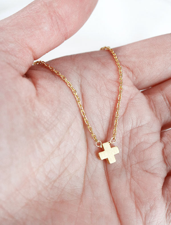 little greek cross necklace – kindlingandco