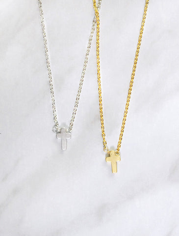 little latin cross necklace