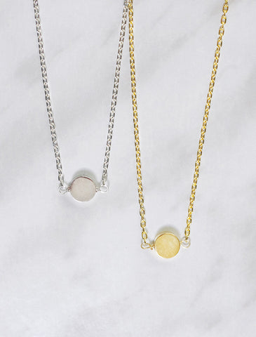 little circle necklace